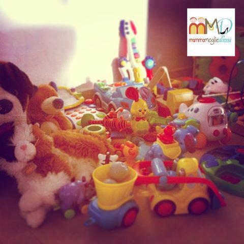 Raccolta giocattoli usati