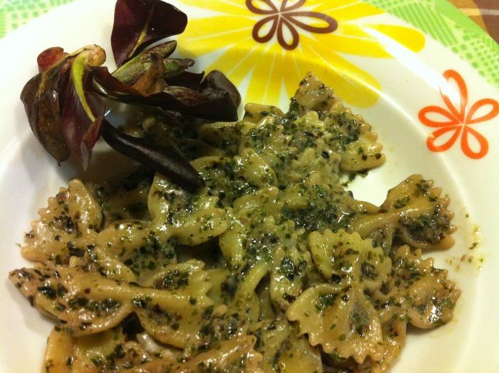 Ricette per cucinare le verdure invernali Farfalle alla crema di radicchio 3