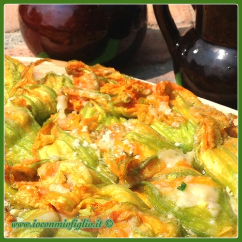 Ricette per cucinare le verdure invernali  fiori di zucca ripieni