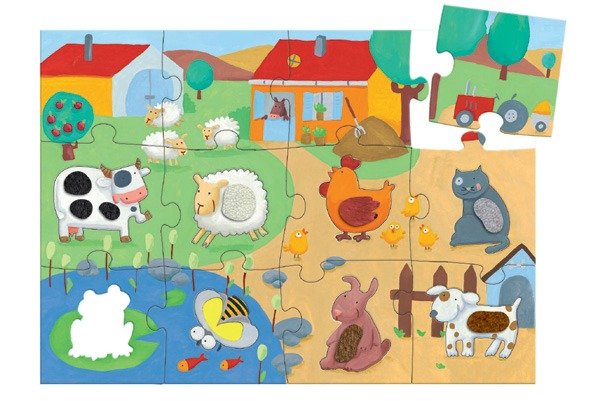 Idee regalo per primo compleanno puzzle-tattile-animali-della-fattoria 20-30 euro