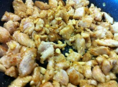 Pollo alle mandorle passo passo 4