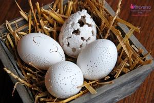uova di pasqua effetto pizzo