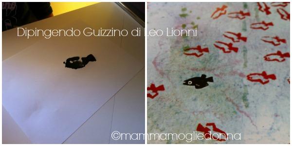 Disegnare Guizzino di Leo Lionni con timbri e colori a dita