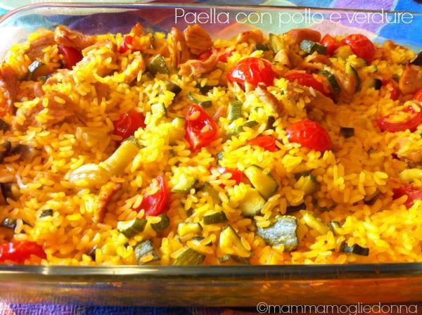 Ricetta Paella con pollo e verdure