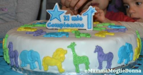 Torta-primo compleanno animali