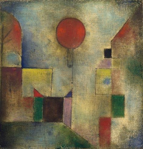 palloncino rosso Paul Klee giocare con arte