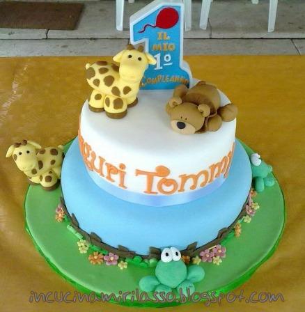 torta primo compleanno animaletti