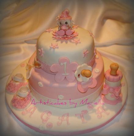 torta primo compleanno biberon