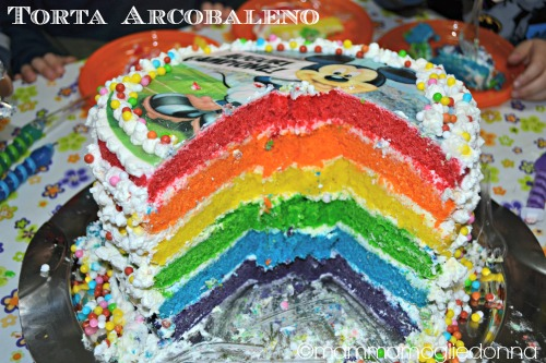 Torta arcobaleno - rainbow cake 1