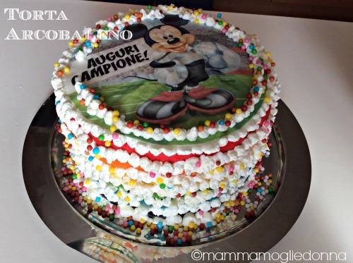 Torta arcobaleno - rainbow cake step 5