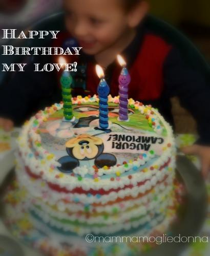 Torta arcobaleno - rainbow cake