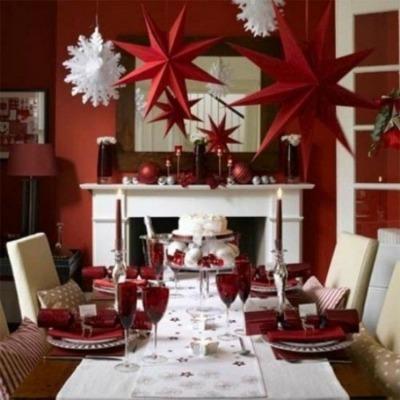 decorare tavola di Natale