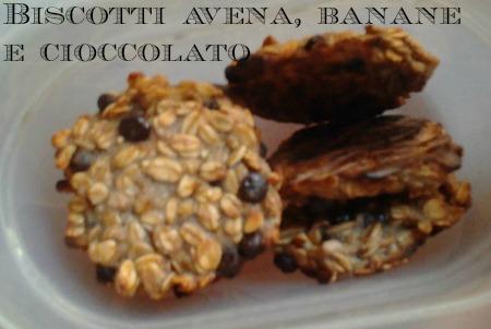biscotti di avena e banane