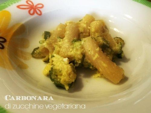 carbonara di zucchine vegetariana 1