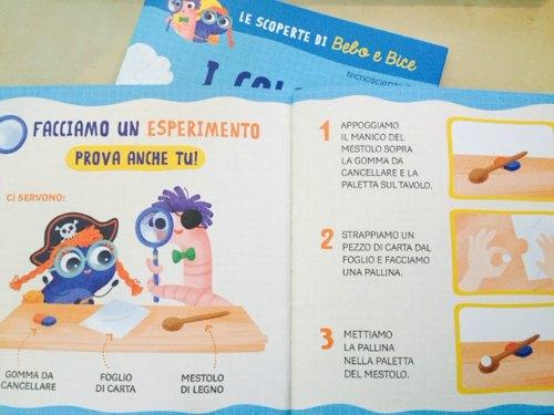 esperimenti scientifici per bambini piccoli Bebo e Bice
