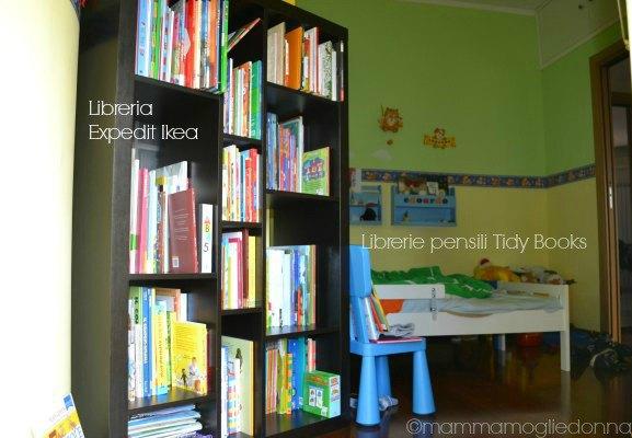 tenere in ordine la libreria dei bambini
