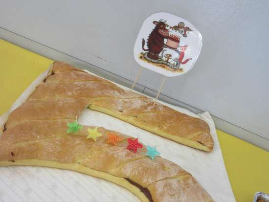 Festa compleanno tema Gruffalò torta