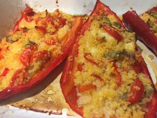 peperoni ripieni cous cous menù settimanale settembre
