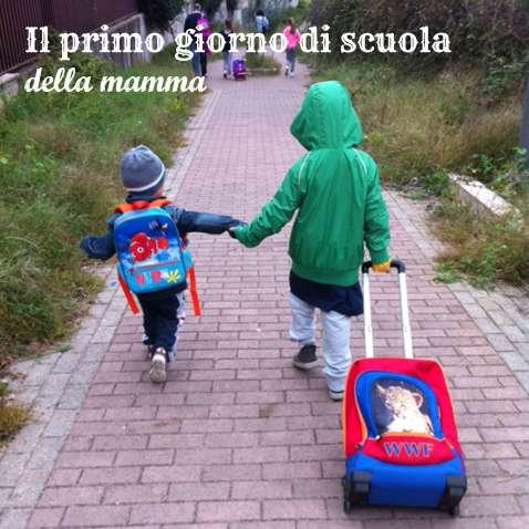 primo giorno di scuola della mamma