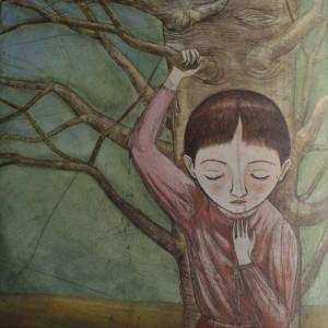 bambina ascoltava gli alberi 2