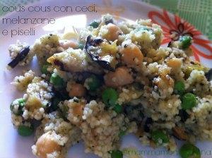 cous-cous-con-ceci-melanzane-e-piselli ricetta
