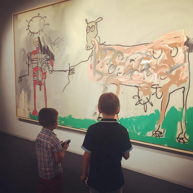 Con i miei cuccioli alla mostra di Basquiat al chiostrodelbramanteromahellip