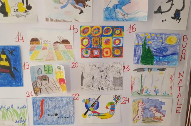 Calendario Per Bambini Fai Da Te.Calendario Avvento Fai Da Te Quadri Famosi Fatti Dai