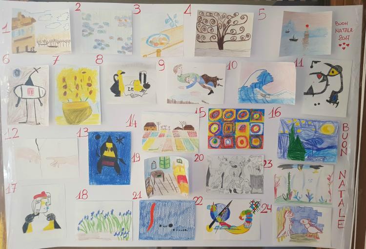 spesso Calendario avvento fai da te: quadri famosi fatti dai bambini  QW68