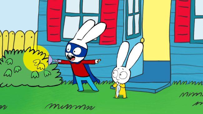 Il coniglio simone di stephanie blake diventa un cartone