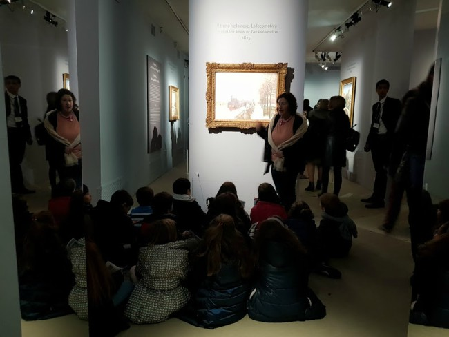 Mostra Monet per bambini Roma visita guidata