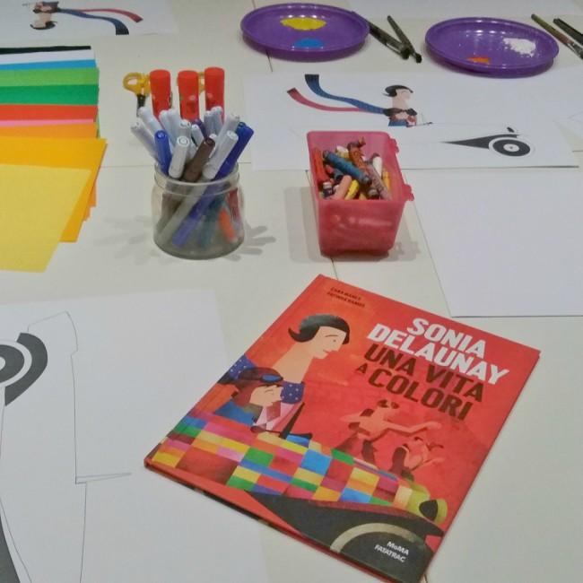 laboratorio per bambini sui colori e l'Astrattismo di Sonia Delaunay 4