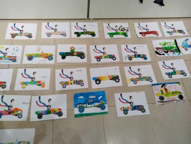 laboratorio per bambini sui colori e l'Astrattismo di Sonia Delaunay.